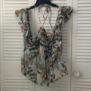 NWT Walter Baker off the shoulder ruffle top